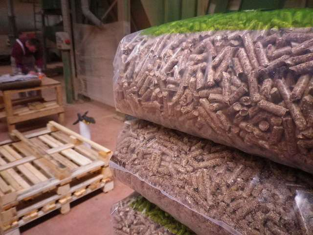 wood pellet storage ideas