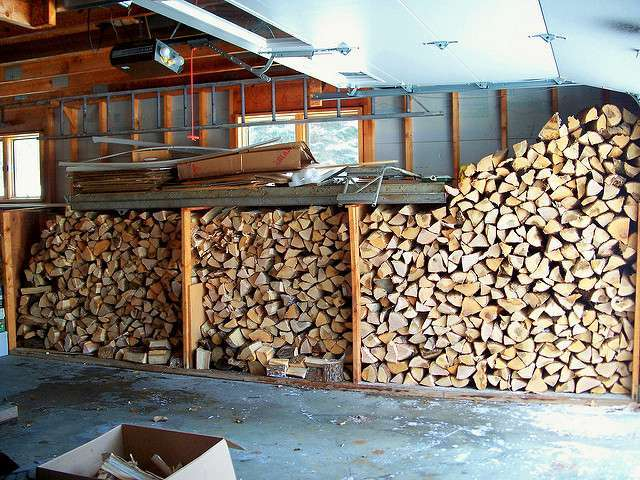 Stacked Cord of Firewood