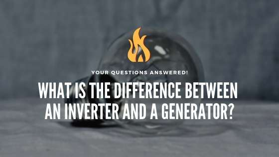 What is the difference between an inverter and a generator?